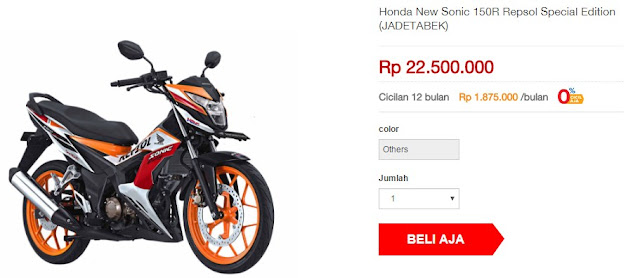 Honda New Sonic 150R Repsol Special Edition (Rp 22.500.000)