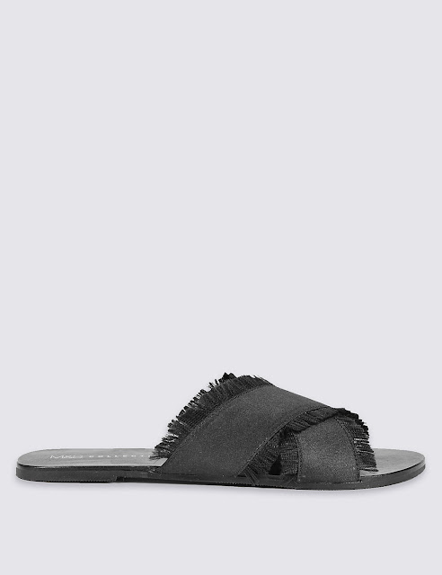 Marks and spencer cross over mule sandals