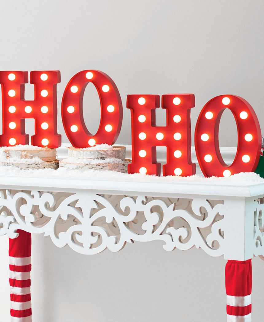 "GRANDIN ROAD HO HO"" MARQUEE LETTERS"