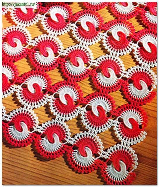 Patrón 1044 Punto Calado a Crochet