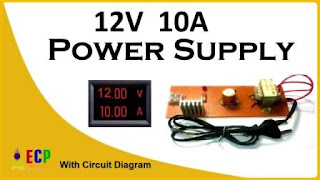 How to make 12v and 10amp power supply easy at home