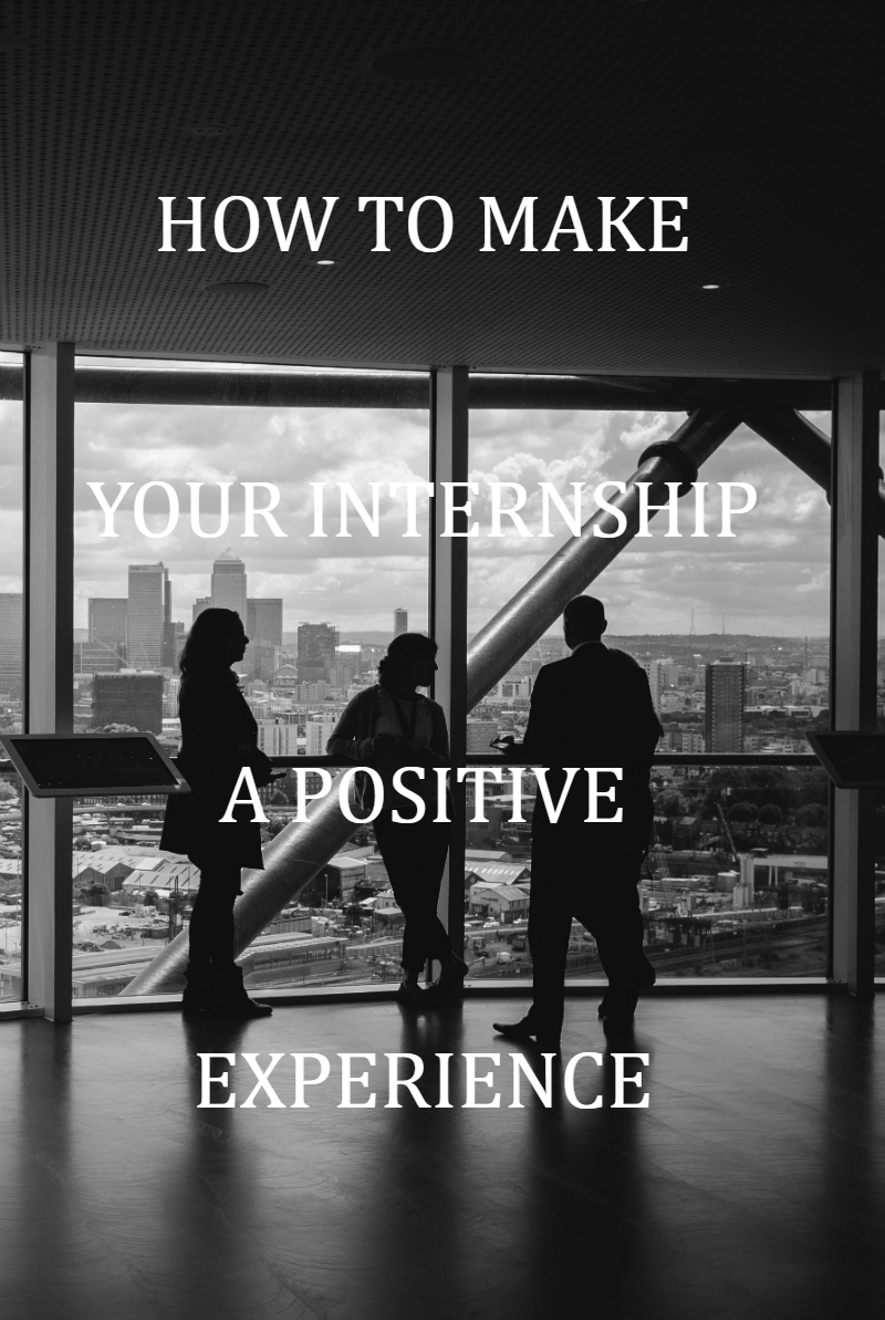 Your internship can be either great or a horrible experience, I think. Whether your internship is a postive experience is in my opinion entirely up to what you make of it.