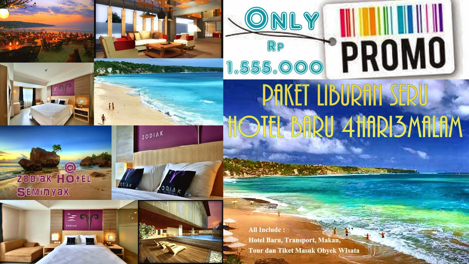 Paket Tour all In 4 Hari 3 Malam only Rp 1.555.000