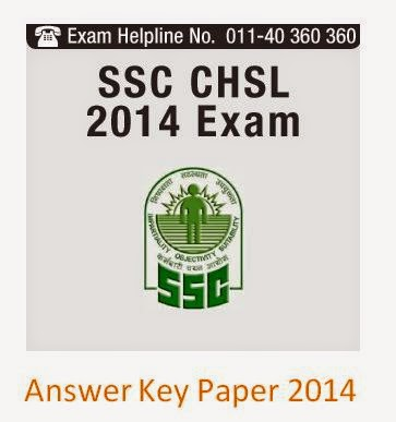 SSC CHSL Answer Key 2014