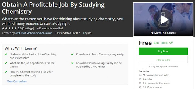 [100% Off] Obtain A Profitable Job By Studying Chemistry| Worth 20$