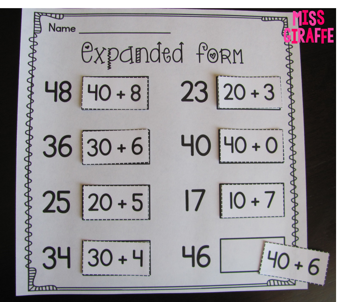 Miss Giraffe S Class Place Value In First Grade
