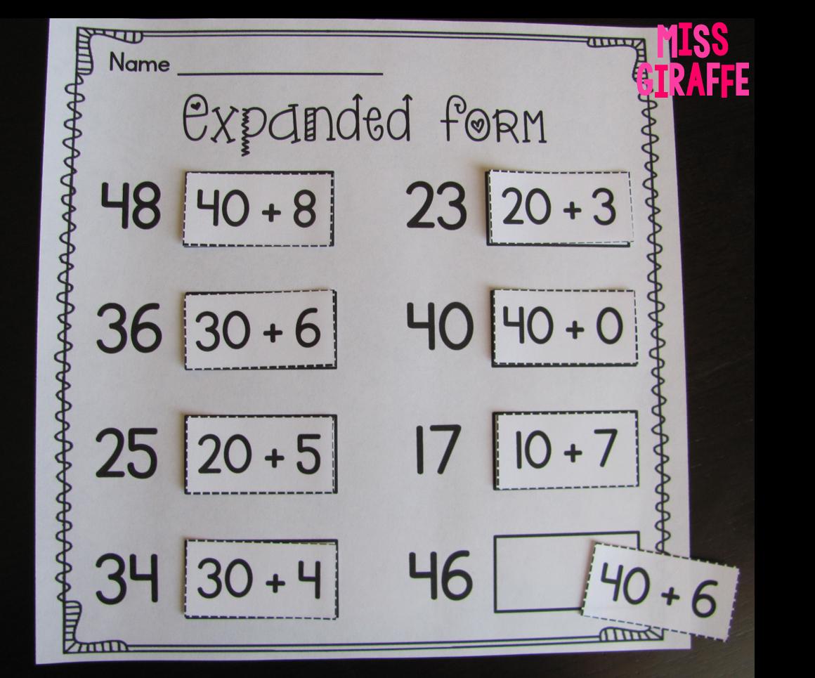 Miss Giraffe's Class: Place Value in First Grade [ 965 x 1160 Pixel ]