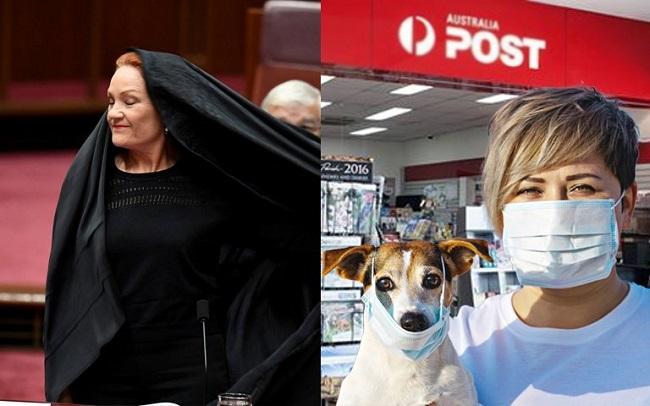 """Karena virus corona, politisi di Australia terpaksa diam melihat wanita """"bercadar"""" dimana-mana."""