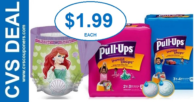 Huggies Pull-Ups CVS Deal $1.99 91-97