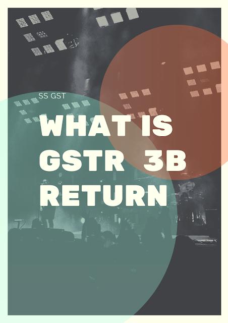 WHAT IS GSTR 3B RETURN