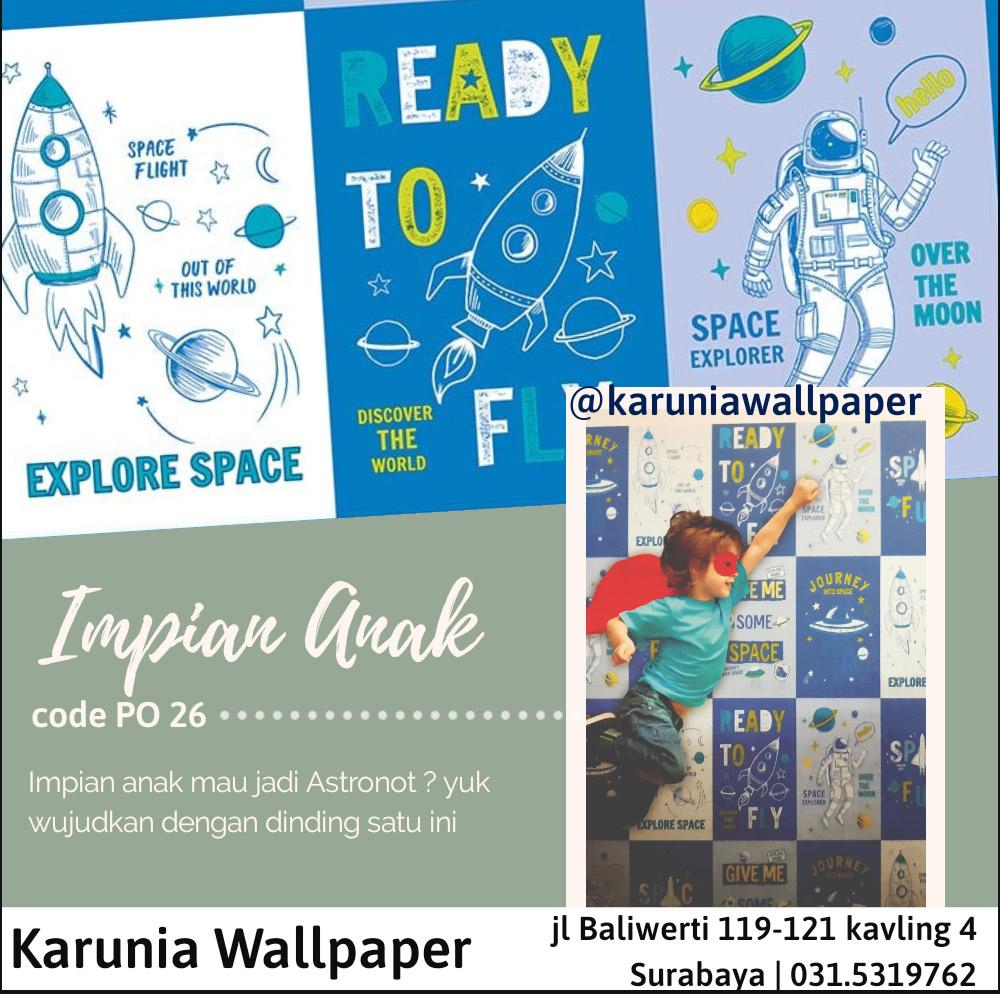 jual dinding wallpaper astronot
