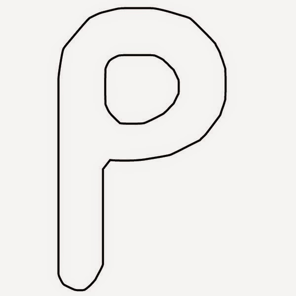 molde letra Peppa Pig