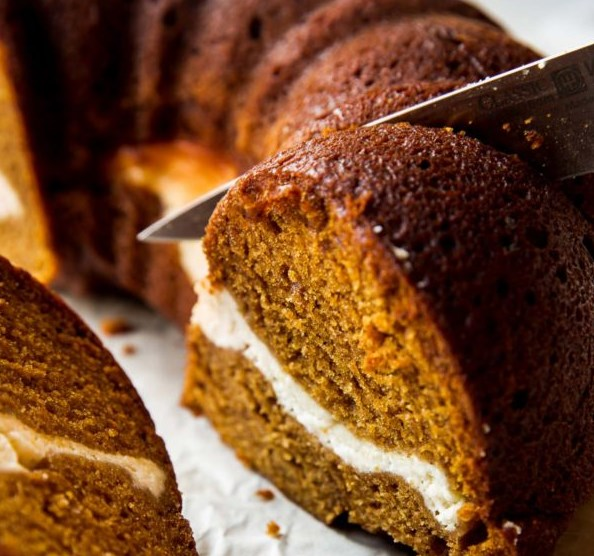 Pumpkin Cream Cheese Bundt Cake #desserts #delicious