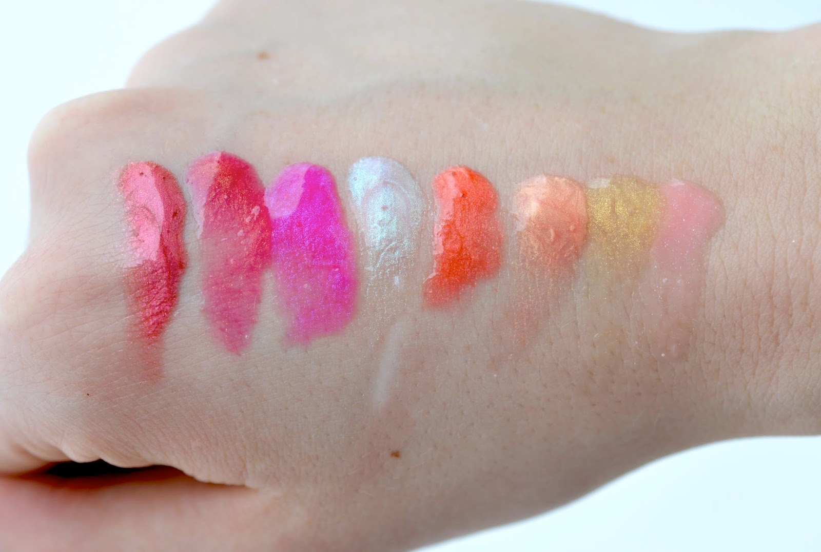 AVON Crave Lip Gloss Swatches