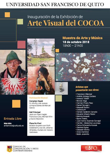 Inauguración de la Exhibición de Arte Visual del COCOA