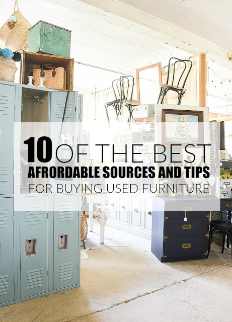 Affordable sources and tips for buying used furniture and decor