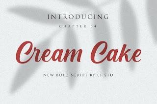 Cream Cake New Bold Script Font