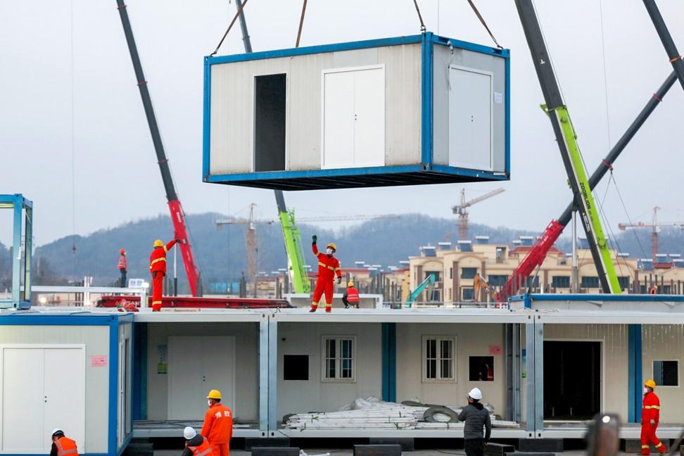 China, cómo construyeron en 10 días un hospital