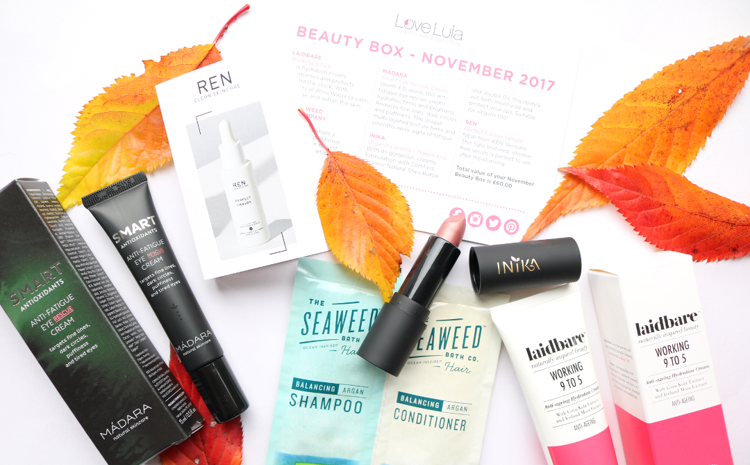LoveLula Beauty Box - November 2017 review