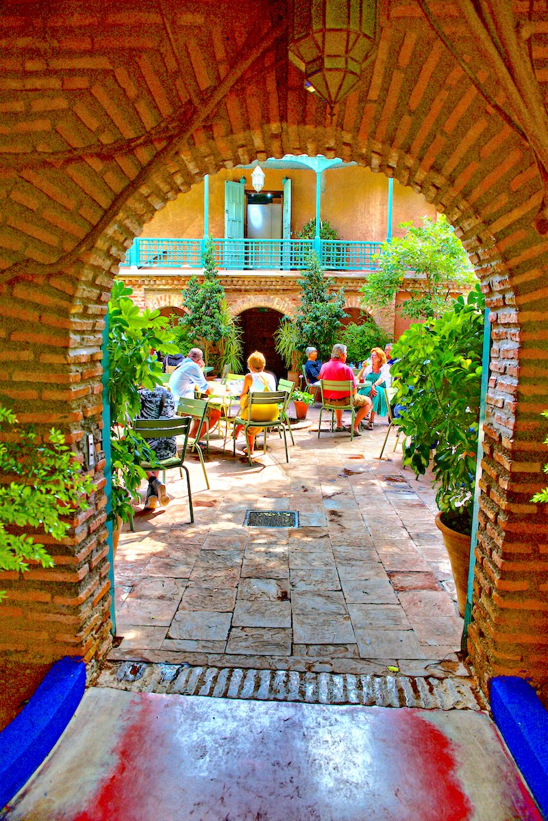 Cafe Jardin Majorelle Marrakesz