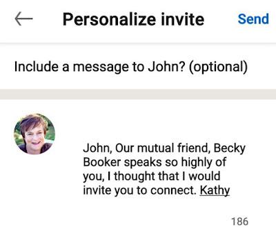 Customizing your LinkedIn invitations on mobile
