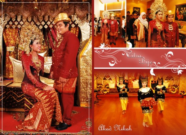 foto wedding adat minang