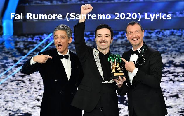 Fai Rumore di Diodato, Sanremo 2020, Fiorello, Amadeus