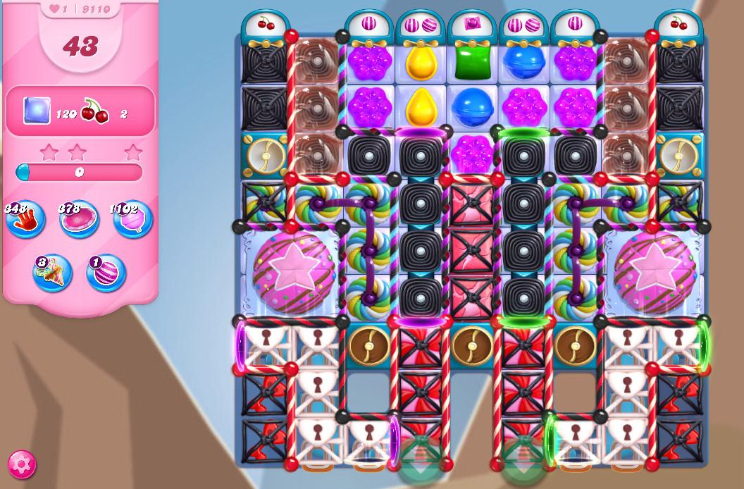 Candy Crush Saga level 9110