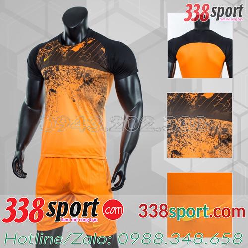 Mẫu Áo Bóng Đá Không Logo Đẹp Nike Roter Cam