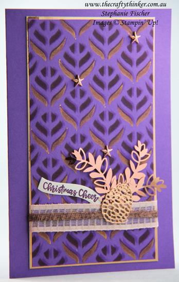 #thecraftythinker #stampinup #cardmaking #basicpatternmasks #christmascard , Basic Pattern Decorative Masks, Brightly Gleaming Suite, Christmas Card, Stampin' Up Demonstrator, Stephanie Fischer, Sydney NSW