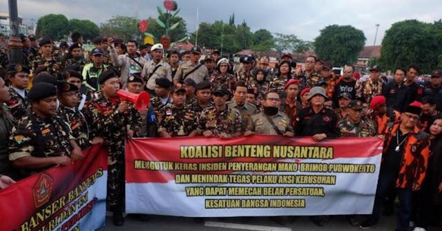 Banser dan Sejumlah Ormas di Purwokerto Kutuk Penembakan di Mako Brimob