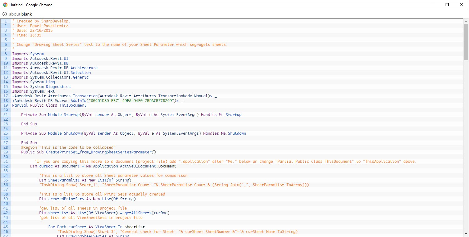 Revit Add-Ons: Free VB Net Macro to Make Sheet Print Sets