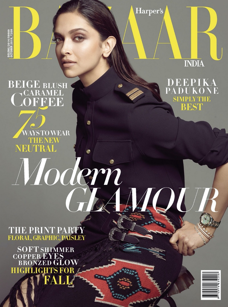 Deepika Padukone covers Harper's Bazaar India October 2019