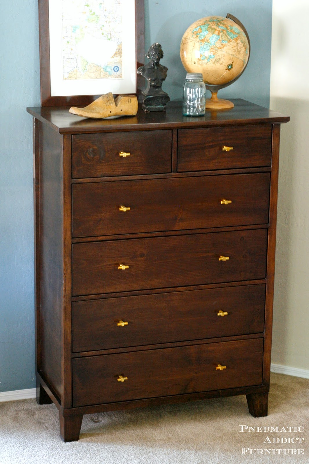 Learn to build your own PB knock-off, tall dresser.
