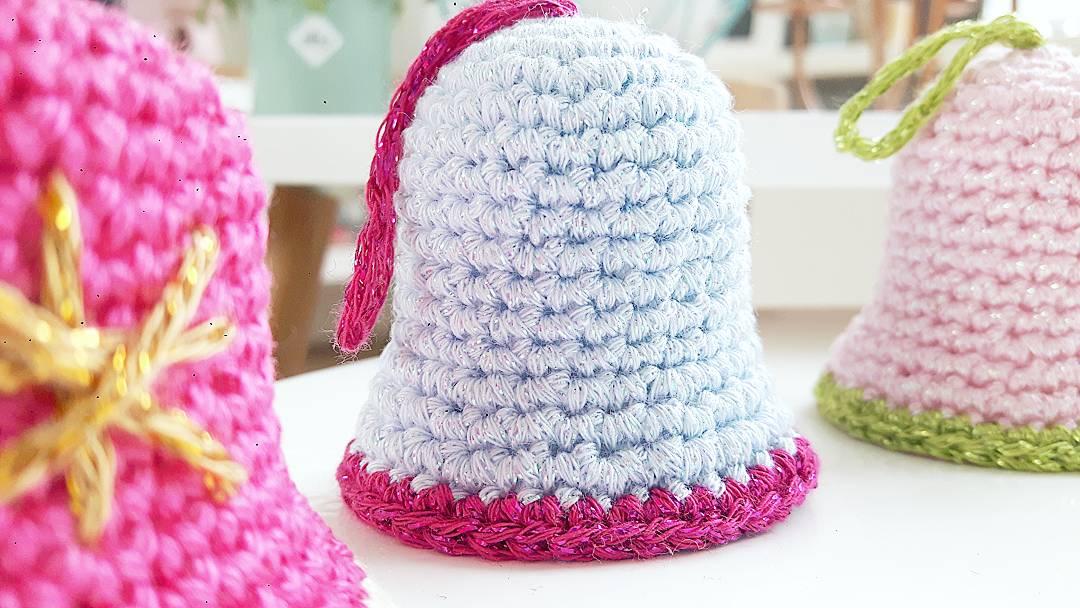 Crochet Addict Gratis Haakpatroon Kerstklokjes Free Pattern