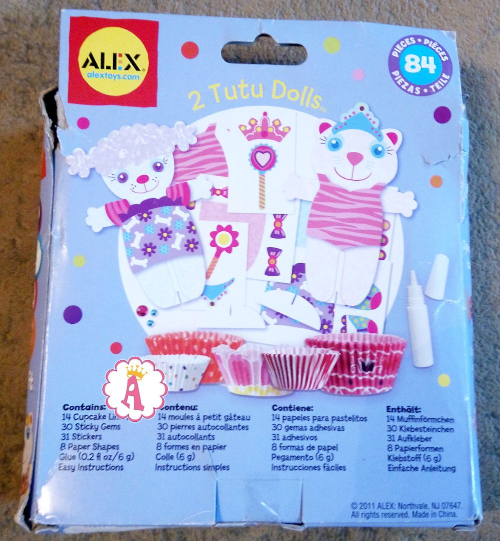 Куклы из бумаги с одеждой своими руками Alex Toys Tutu Dolls Craft