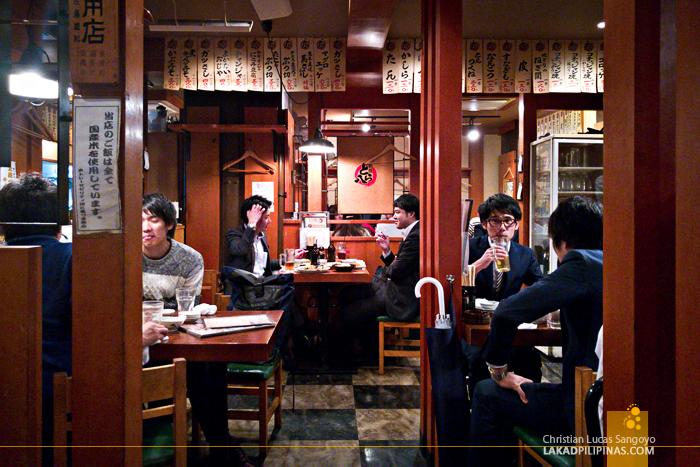 Tokyo Shinbashi Railway Torahachi Restaurant Evening