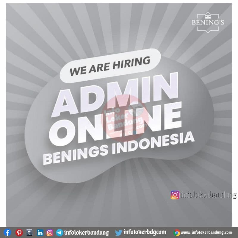 Lowongan Kerja Benings Indonesia Bandung Juli 2021