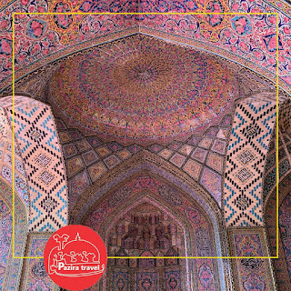 Due to the usage of a considerable number of pink-colored tiles for its interior design, it is named in popular culture as the Pink Mosque. No longer in use as a place of worship, the Pink Mosque is situated near Shahe Cheragh holy shrine. It was built during Qajar dynasty rule of Iran. Visitors can look and take eye catching photos inside and admire glorious views from outside.