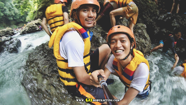 paket private body rafting green canyon jarak 10 km
