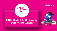NTCL Clerical Staff Syllabus