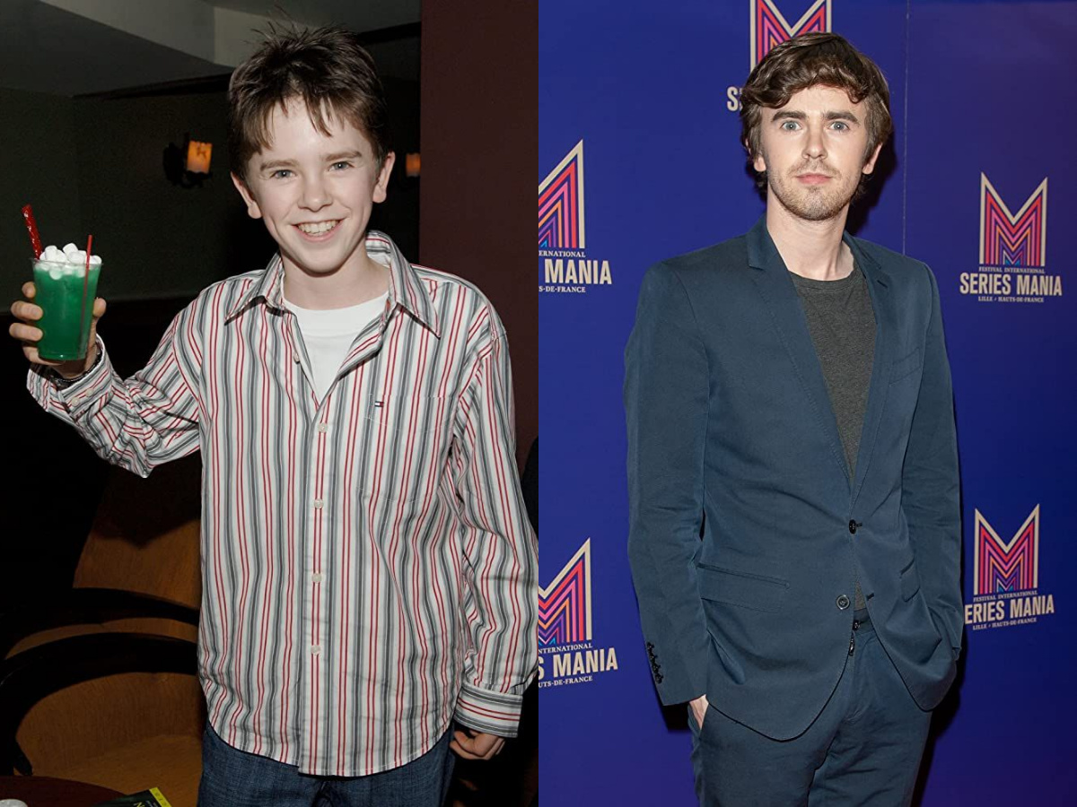 Freddie Highmore in 2006 and 2019