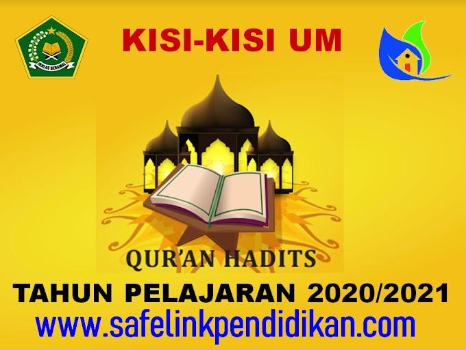 Kisi-kisi UM Al-Qur'an Hadis Jenjang MI Tahun 2021