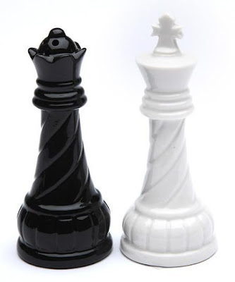 Chess King Queen Salt and Pepper Shaker Set