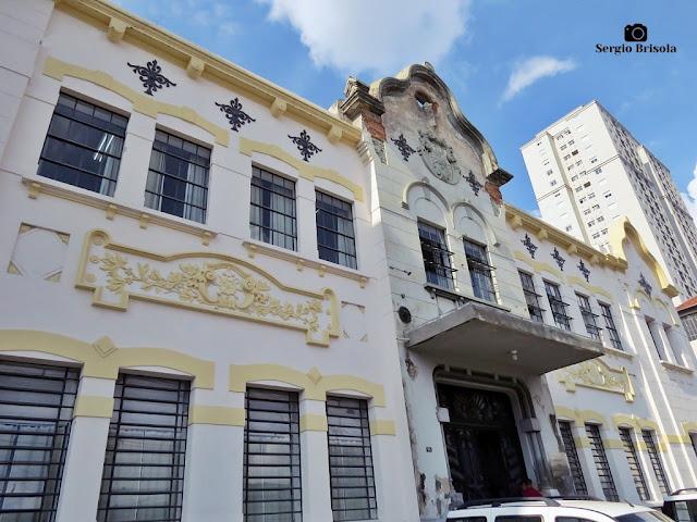 Fachada da Primeira Escola Profissional Masculina - Brás - São Paulo