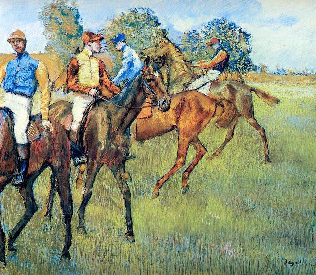 Эдгар Дега - Скаковые лошади (ок.1873)