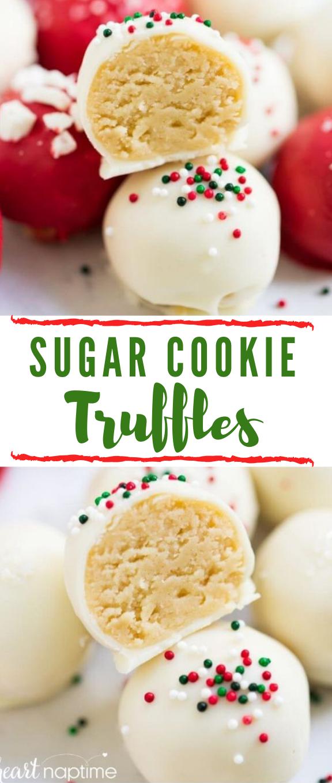 SUGAR COOKIE TRUFFLES #sugar #cookie #desserts #bars #chocolate