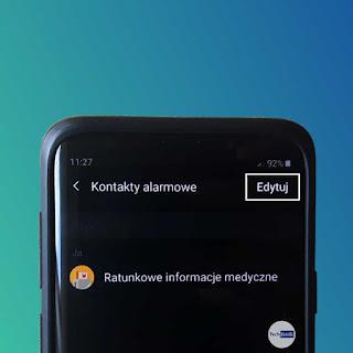 Samsung Tryb Awaryjny Kontakty ratunkowe