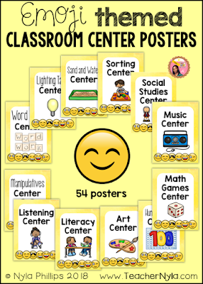 Center Signs and posters Emoji theme