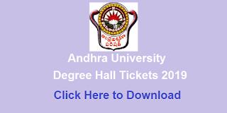 Manabadi AU Degree Hall Tickets 2019 Download